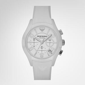 Emporio Armani AR1431 Unisex Ceramic Chronograph Quartz Watch