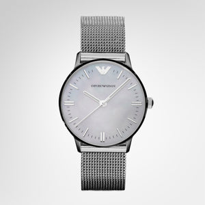Emporio Armani AR1631 Ladies Classic Silver Dial Watch