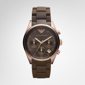 Emporio Armani AR5891 Unisex Brown Dial Chronograph Watch