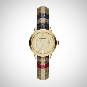 BURBERRY BU10104 Classic Round Ladies' Leather Watch