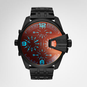 Diesel Men's Uber Chief Black Quartz Watch- DZ7373