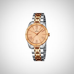 Festina F16941/2 Boyfriend Ladies Quartz Two Tone Rose Gold & Silver watch