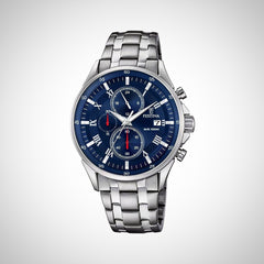 Festina F6853/3 Mens Chronograph Quartz Navy Dial Stainless Steel Watch