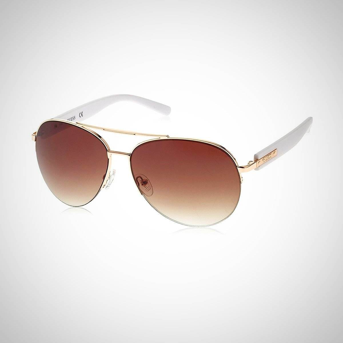 Guess GF0160 28F 63 Men's Aviator Sunglasses