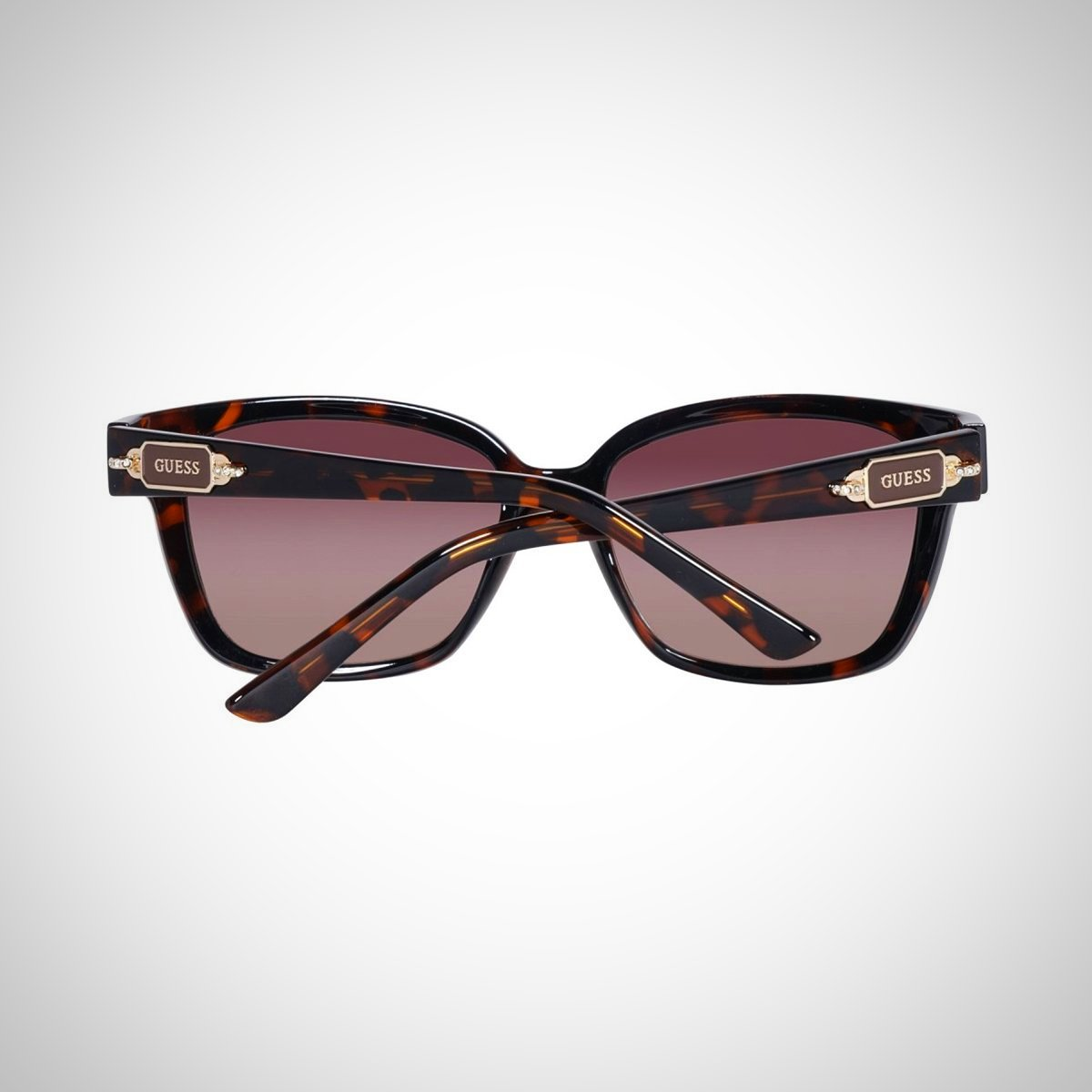 Guess GF6014 52F 55 Ladies Brown Havana Sunglasses