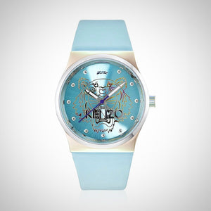 Kenzo K0022004 Ladies Light Blue Leather Watch