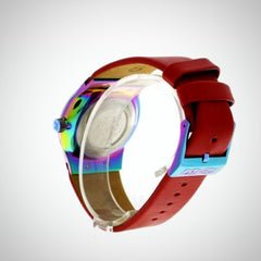 Kenzo K0024004 Men's Red Leather Watch