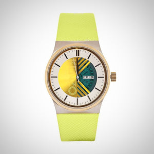 Kenzo K0064003 Unisex Green Leather Watch