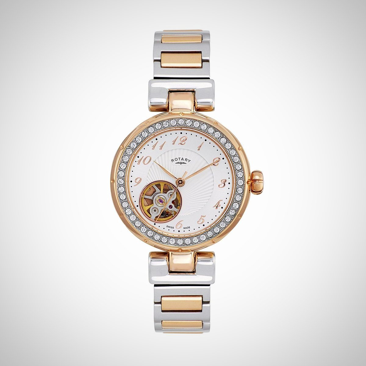 Rotary LB001-A-22 Ladies' Automatic Two-Tone Stainless Steel Silver / Rose Watch