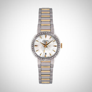 Rotary LB02844/41 Ladies' Two-tone Stainless Steel/Gold Plated Quartz Watch