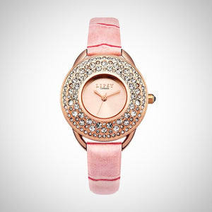 Lipsy LP446 Ladies Pink Leather Strap Rose Gold Case Watch