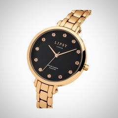 Lipsy LP482 Ladies PVD Rose Gold-Tone Plated Stainless Steel Watch