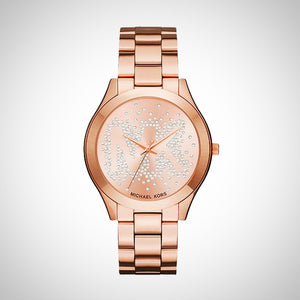 35f858d13bdb Michael Kors MK3591 Slim Runway Rose Gold Tone Dial Ladies Watch