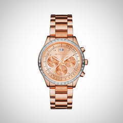 Michael Kors MK6204 Brinkley Chronograph Rose Dial Ladies Watch