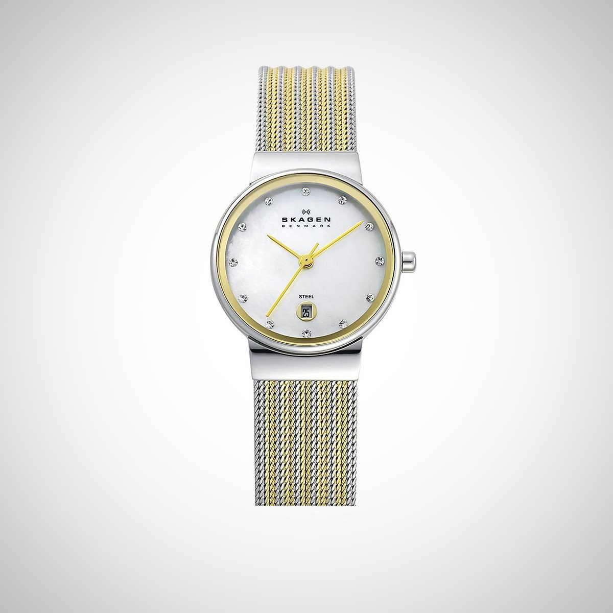 Skagen 355SSGS Ladies Mother of Pearl Quartz Watch