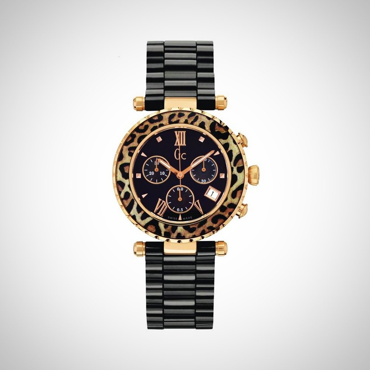 Guess Collection X43011M2S Ladies Diver Chic Ceramic Chronograph Watch