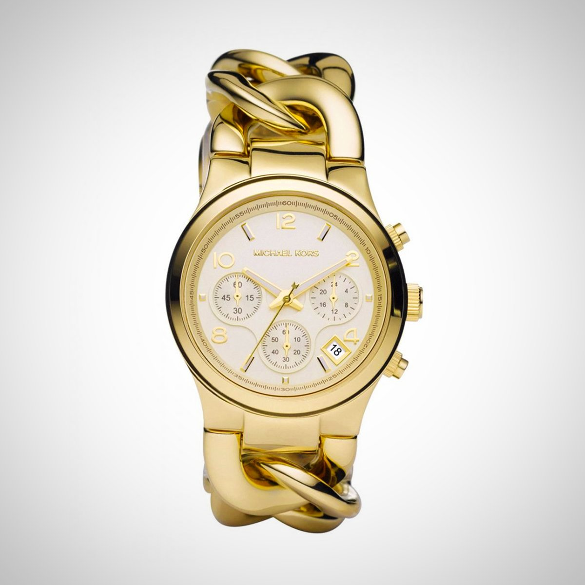 Michael Kors MK3131 Runway Twist Ladies' Chronograph Gold Watch