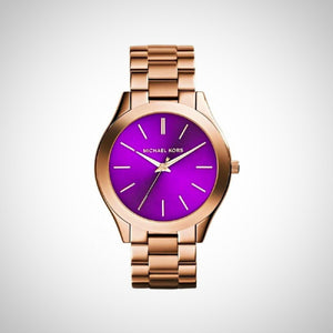 Michael Kors MK3293 Rose Gold Purple Dial Ladies watch
