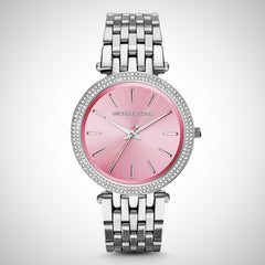 Michael Kors MK3352 Darci Pink Dial Stainless Steel Ladies Watch