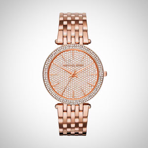 bf58bb37ea68 Michael Kors MK3439 Darci Ladies  Crystal Pave Rose Gold-Tone Stainless  Steel Watch