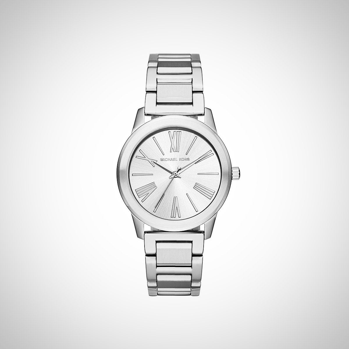 Michael Kors MK3489 Hartman Ladies' Silver Stainless Steel Case Watch