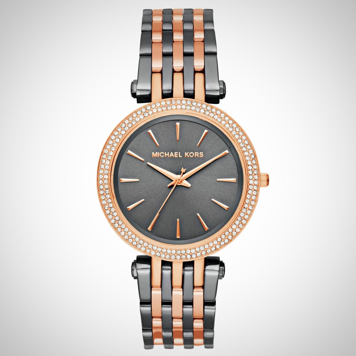 Michael Kors MK3584 Darci Gunmetal and Rose Gold-Tone Ladies Watch