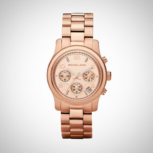Michael Kors MK5128 Ladies Runway Chronograph Rose Gold Watch