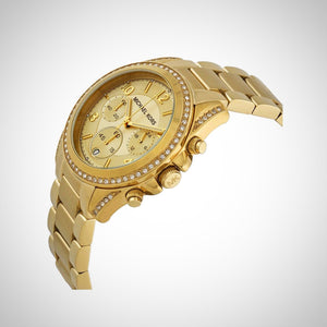Michael Kors MK5166 Ladies Blair Chronograph PVD Gold Watch