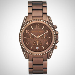 Michael Kors MK5493 Blair Ladies Brown Chronograph Watch
