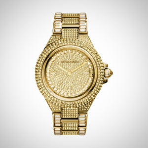 Michael Kors MK5720 Ladies Camille Crystal Encrusted Gold Ion-plated Watch
