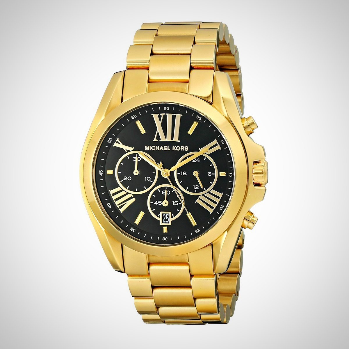 Michael Kors MK5739 Bradshaw Chronograph Black Dial Gold tone Ladies Watch