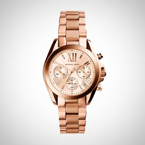 Michael Kors MK5799 Bradshaw Women's Chronograph Rose Dial Rose Gold-tone Quartz Watch