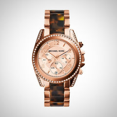 Michael Kors MK5859 Women's Blair Chronograph Rose Gold Strap Watch