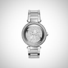 Michael Kors MK5925 Parker Silver Crystal Dial Stainless Steel Ladies Watch