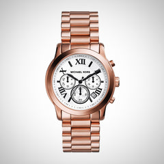 Michael Kors MK5929 Ladies Cooper Rose Gold Chronograph Watch