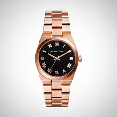 Michael Kors MK5937 Channing Black Dial Rose Gold-tone Ladies Watch