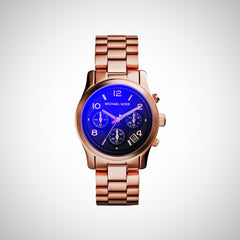 Michael Kors MK5940 Iridescent Dial Rose Gold Chronograph Ladies Watch