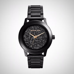Michael Kors MK5999 Ladies Kinley Black Pave Crystal Watch