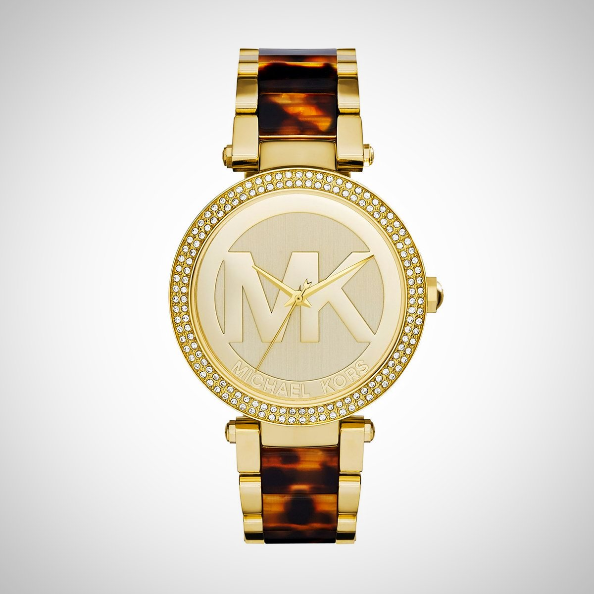 Michael Kors MK6109 Parker Ladies' Champagne Dial Gold-tone and Tortoise-shell Acetate Watch