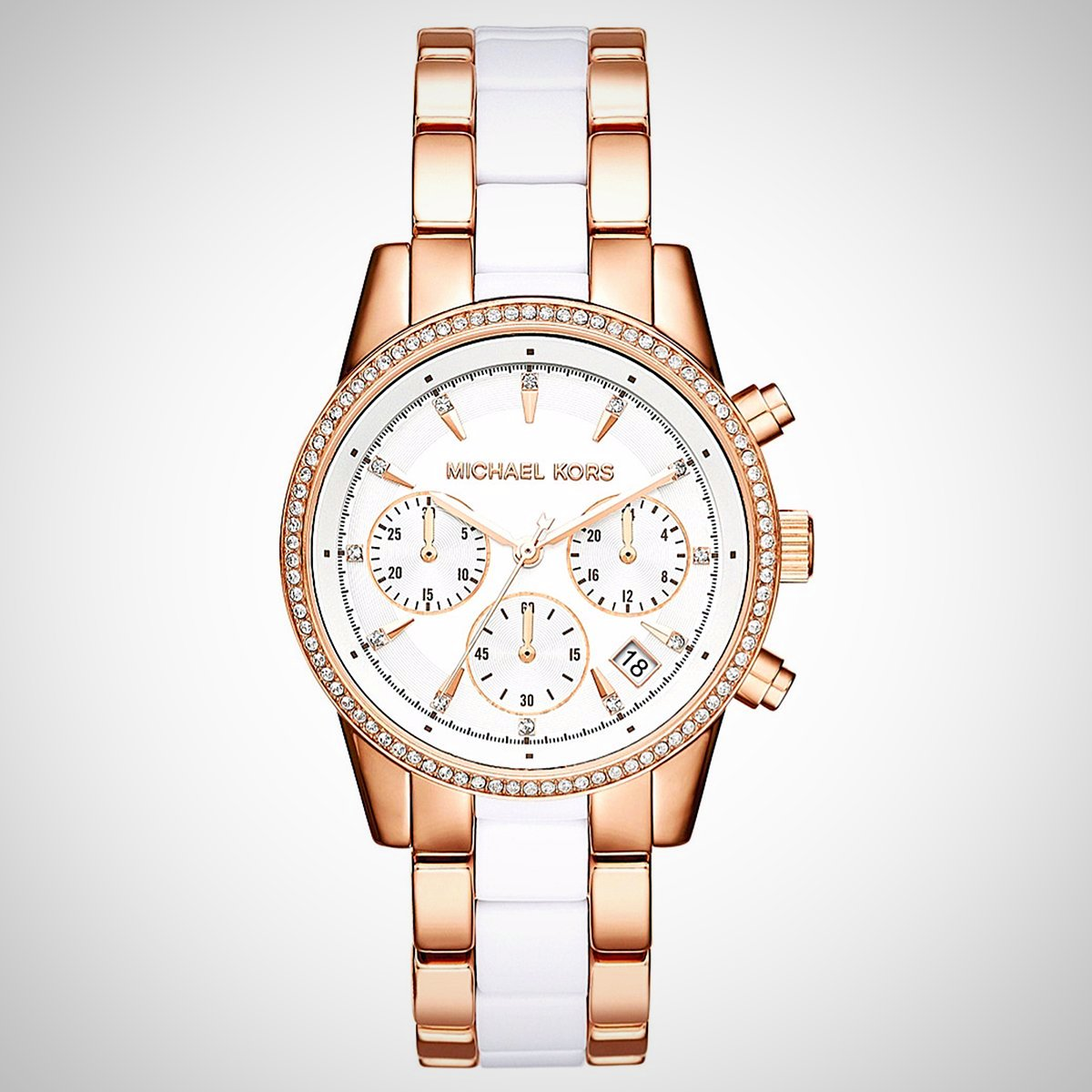 Michael Kors MK6324 Rose Gold Case and Two-tone Ladies Watch