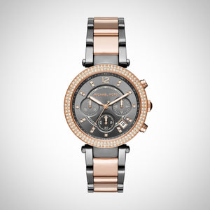 Michael Kors MK6440 Parker Ladies Two Tone Chronograph Watch