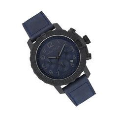 Nautica Men's Chronograph Blue Leather Watch NAI21005G