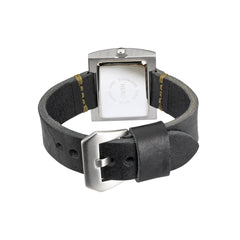 Nero Steel 104 Ladies Black Leather Strap Watch
