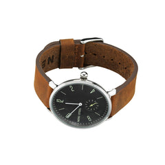 Nero Steel 115 Byron Mens Brown Leather Watch