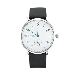 Nero Steel 115 Byron Unisex Black Leather Watch