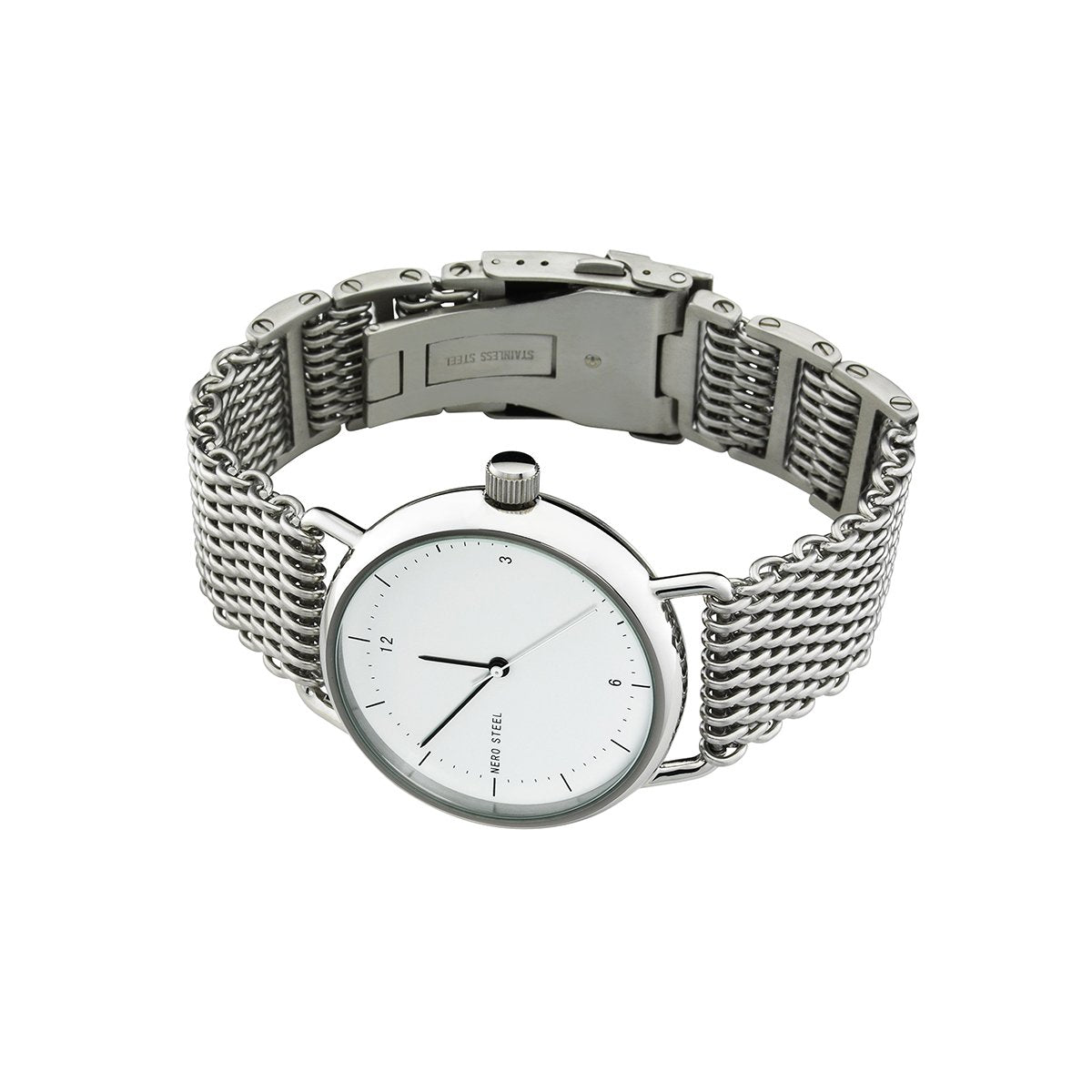 Nero Steel 116 Unisex Stainless Steel Watch