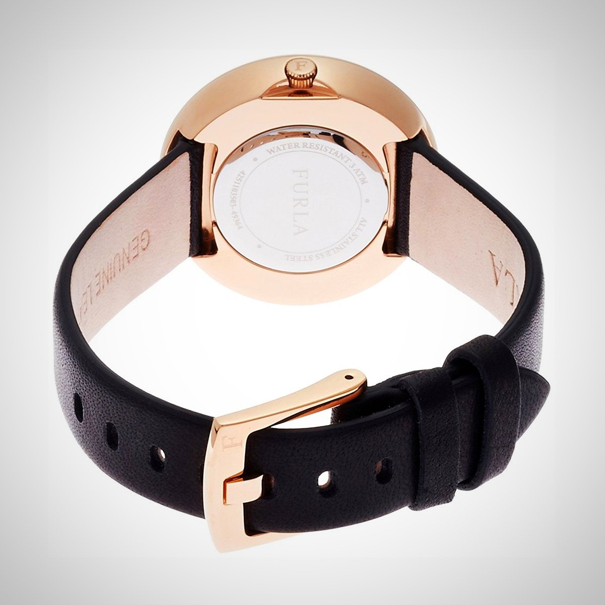 Furla R4251103503 Valentina Ladies Leather Strap Rosegold Watch