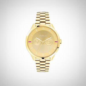 Furla R4253102504 Metropolis Ladies PVD Gold Plated Watch