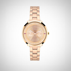 Furla R4253102518 Metropolis Ladies PVD Rose Gold plated Watch