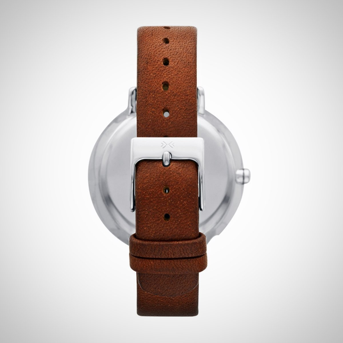 Skagen SKW2214 Women's Ditte Brown Leather Strap Watch